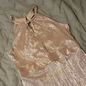 Nine West Rose Gold cocktail dress